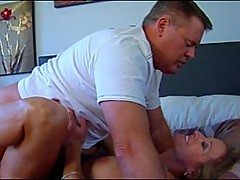 blonde, interracial, creampie
